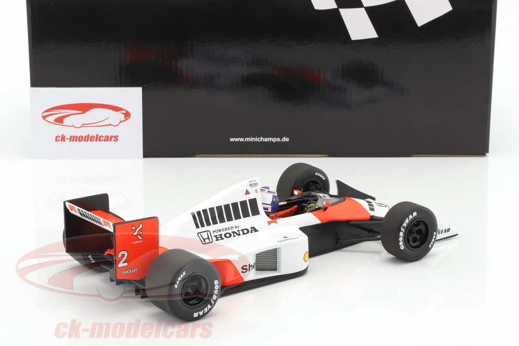 ck modelcars 530891802 alain prost mclaren mp4 5 2 champion du monde formule 1 1989 1 18. Black Bedroom Furniture Sets. Home Design Ideas