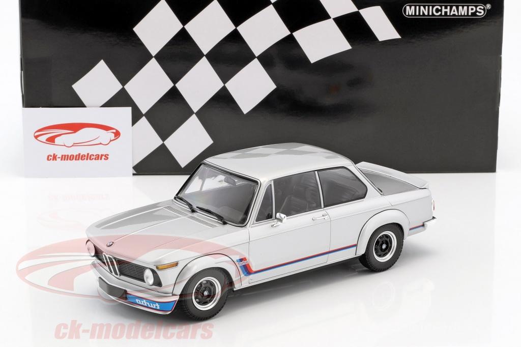 CK-Modelcars - 155026201: BMW 2002 Turbo year 1973 silver 1:18 ...