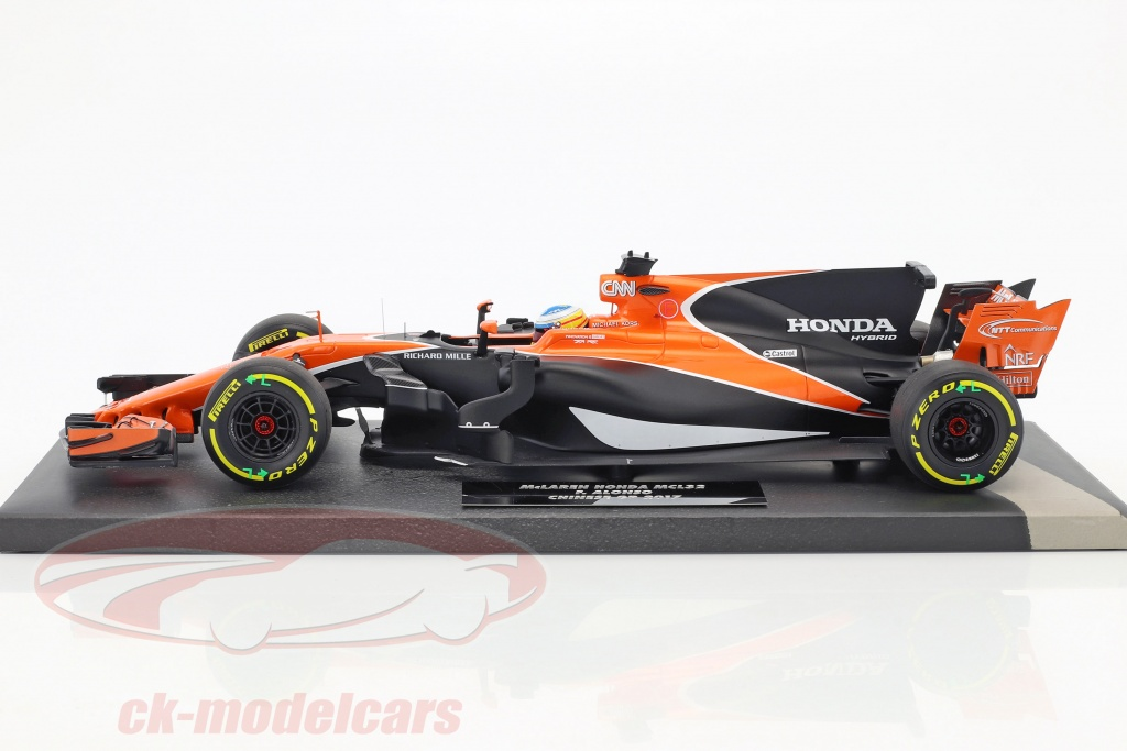 ck modelcars 537171814 fernando alonso mclaren mcl32 14 chine gp formule 1 2017 1 18. Black Bedroom Furniture Sets. Home Design Ideas