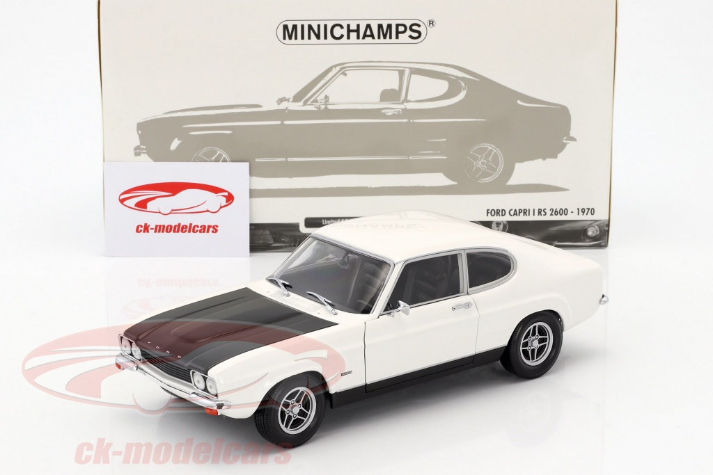Minichamps 1 18 Ford Capri Rs 2600 Lhd Year 1970 White Black 150089078 Model Car 150089078 4012138138957