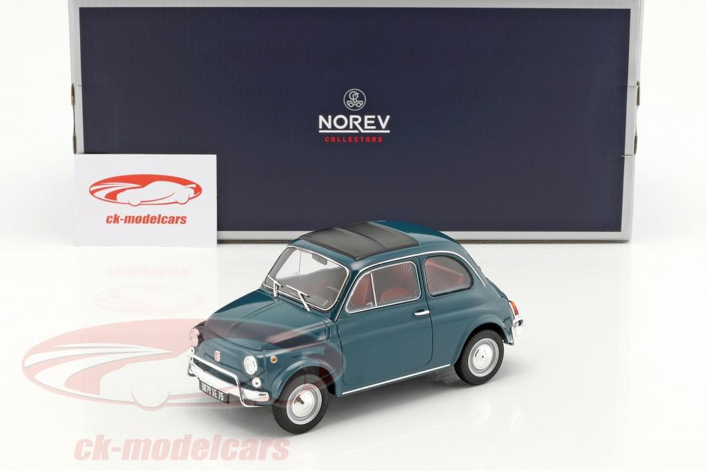 Fiat 500 L Year 1968 Dark Turquoise 1 18 Norev