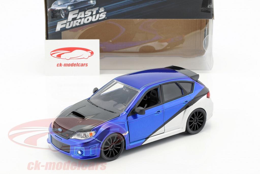 Subaru Impreza STi blau silber Brian Fast /& Furious Modellauto 1:24 Jada Toys