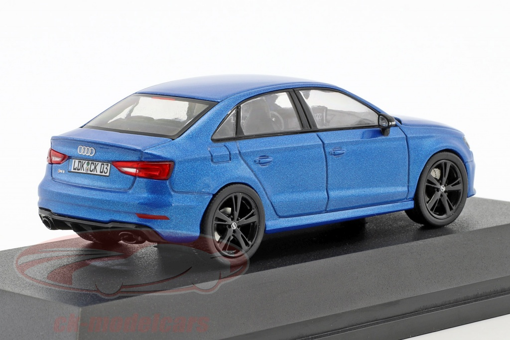 audi rs 3 limousine blue metallic 1 43 iscale
