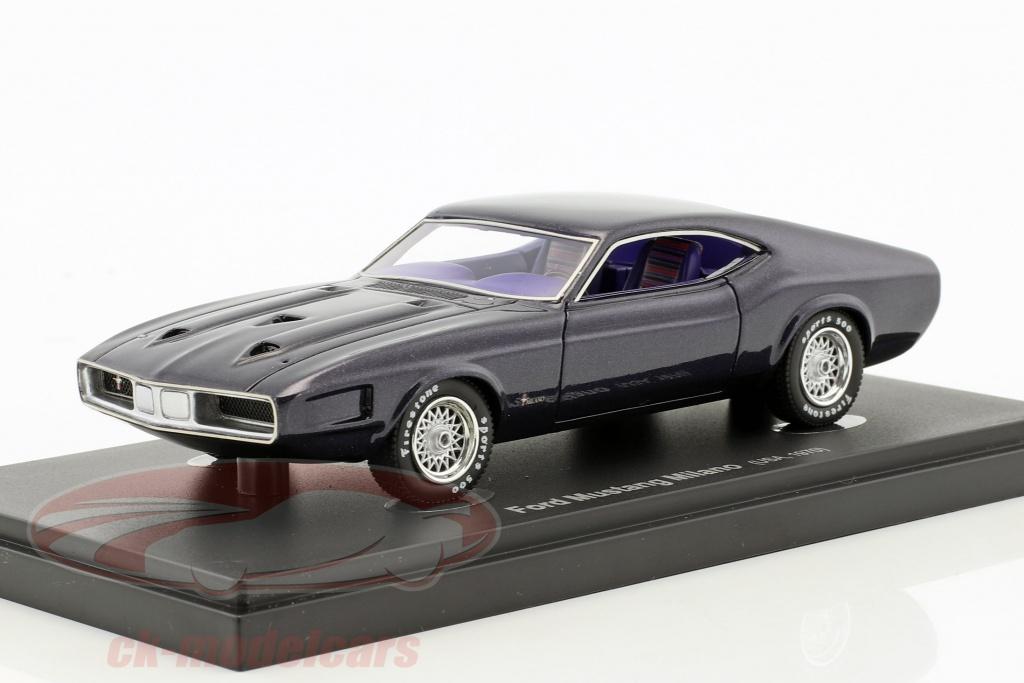 Ck Modelcars 60017 Ford Mustang Milano Usa Year 1970 Dark Purple
