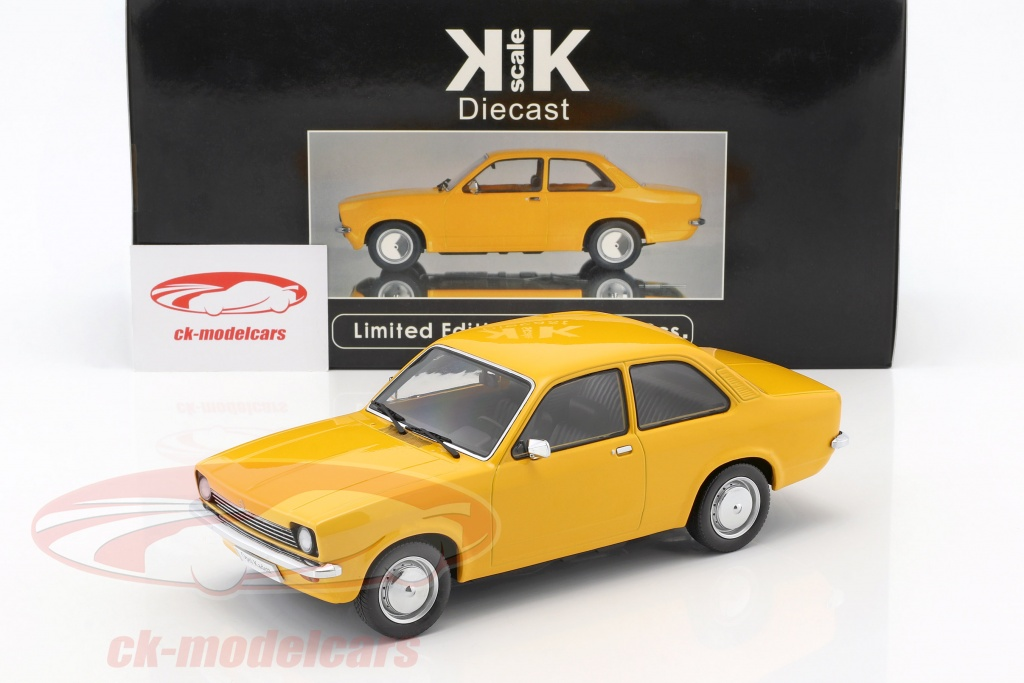 Kk Scale 1 18 Opel Kadett C Limousine Year 1973 1977 Ocher Yellow Kkdc180012 Model Car Kkdc180012