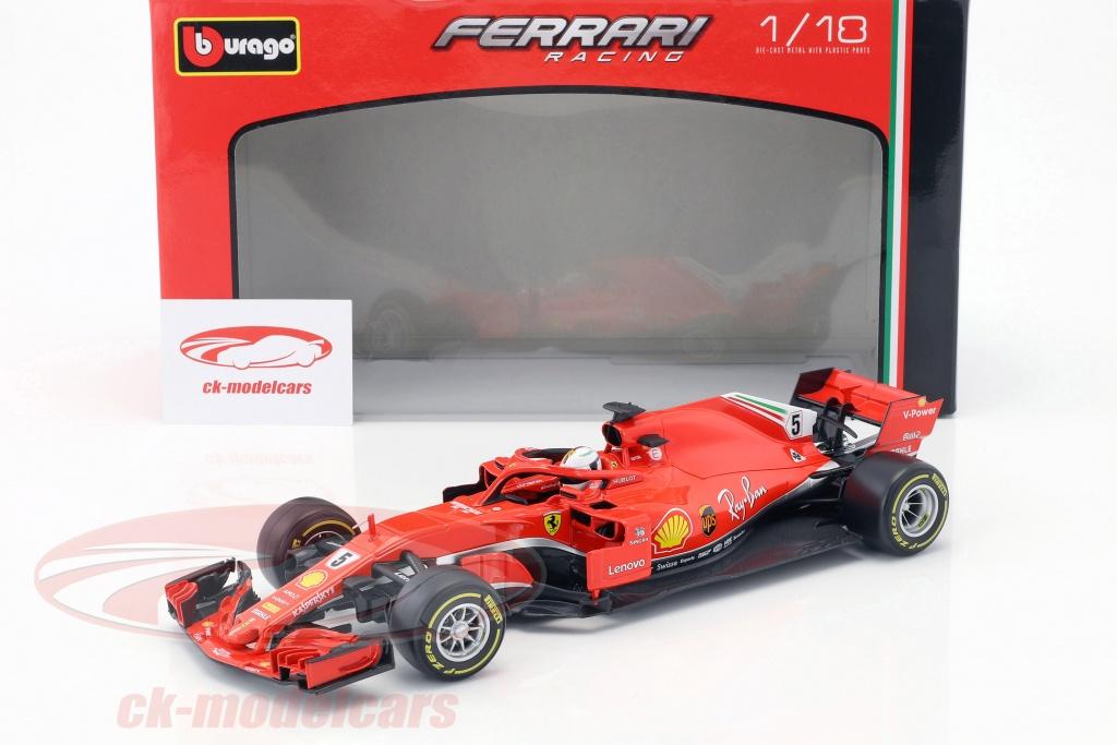 1:43 Bburago F1 2019 Ferrar SF90 Formula One #5 Sebastian Vettel Die-cast Car