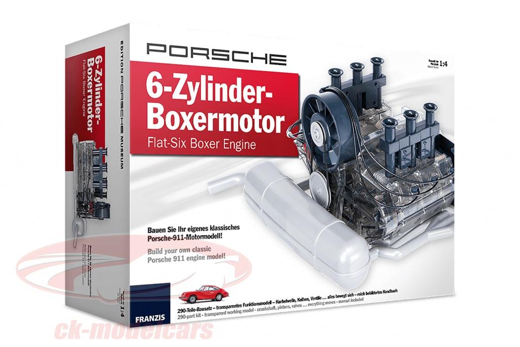 Porsche 911 6-Zylinder Boxer engine Year 1966 kit 1:4 Franzis
