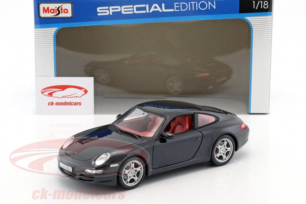 MAISTO 31692 PORSCHE 911 997 CARRERA S 1//18 DIECAST MODEL CAR BLUE