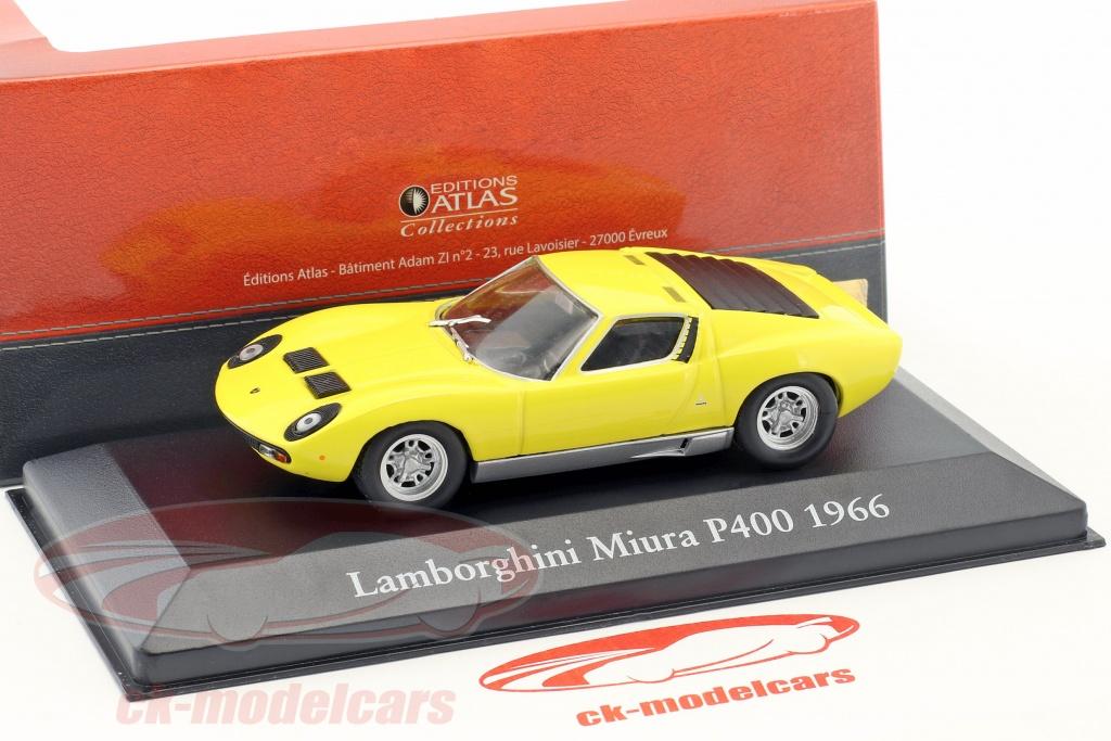 Atlas 1 43 Lamborghini Miura P400 Year 1966 Yellow 2891007 Model Car