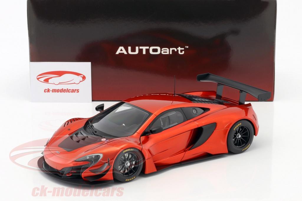 Mclaren 650s Gt3 >> Mclaren 650s Gt3 Year 2017 Volcano Orange Black 1 18 Autoart