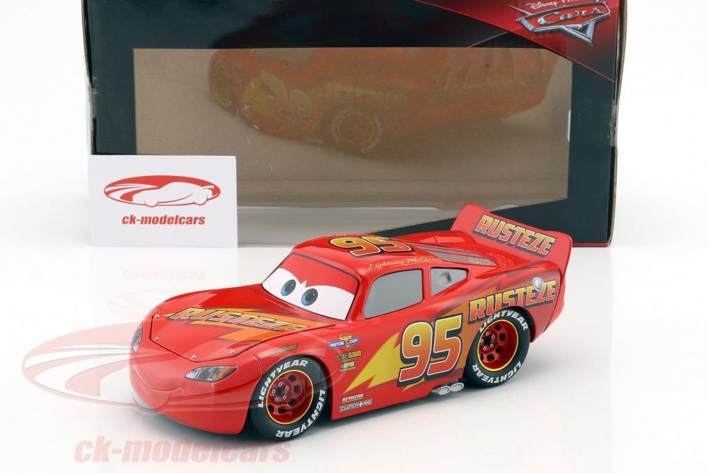 Jadatoys 1 24 Lightning Mcqueen Met Tire Set Disney Film Cars 3