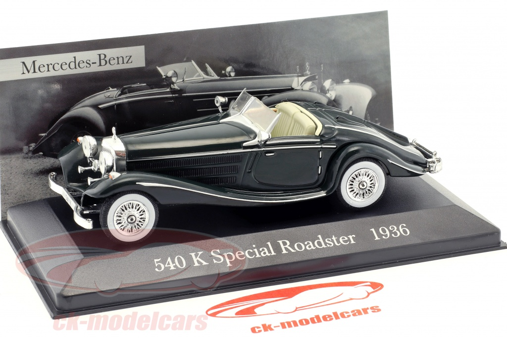 Mercedes Benz 540 K Special Roadster W29 Construction Year 1936 Green 1 43 Ixo Altaya