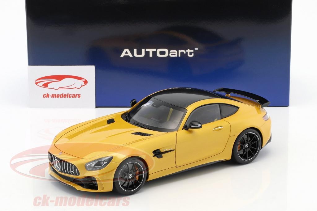 Mercedes Benz Amg Gt R Year 2017 Solar Beam Yellow Metallic 1 18 Autoart