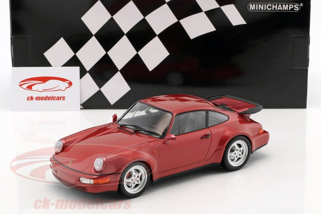 Minichamps 1 18 Porsche 911 964 Turbo Year 1990 Red Metallic 155069102 Model Car 155069102 4012138142077