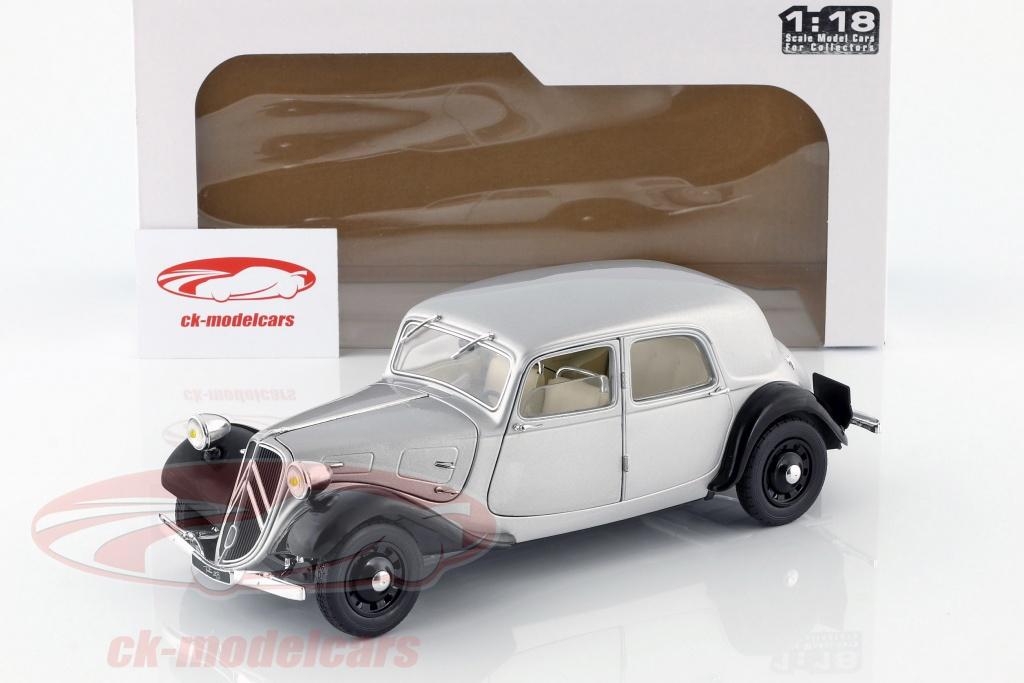 Citroen Traction 11CV 1937 schwarz Modellauto 1:18 Solido