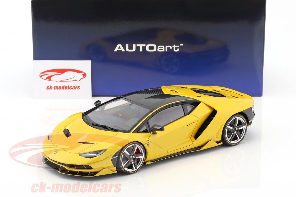 Autoart 1 18 Lamborghini Centenario Lp770 4 Year 2017 Orion Yellow Metallic 79115 Model Car 79115 674110791150