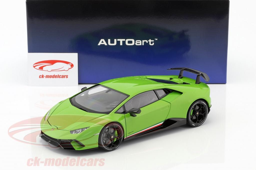Lamborghini Huracan Performante year 2017 mantis green 118 AUTOart