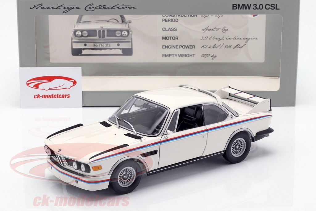 BMW 3.0 Csl >> Bmw 3 0 Csl Year 1973 75 White 1 18 Minichamps