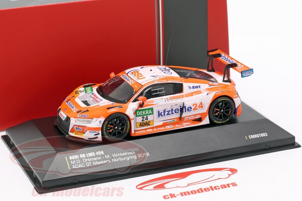 Audi R8 Lms Bwt Mucke Motorsport Winkelhock Adac Gt Masters 2017 1:43 Model Giocattoli Modellismo