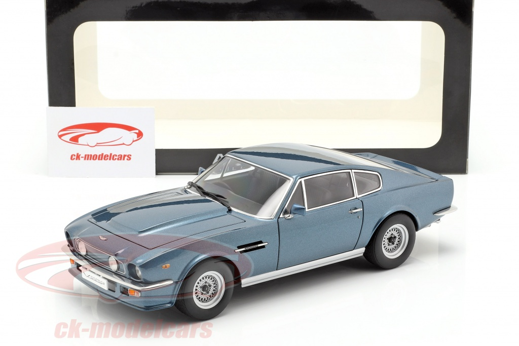 Autoart 1 18 Aston Martin V8 Vantage Year 1985 Chichester Blue 70223 Model Car 70223 674110702231