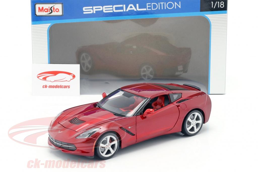 Maisto 1 18 Chevrolet Corvette Stingray C7 Baujahr 2014 Rot 31182 Modellauto 31182 090159311829