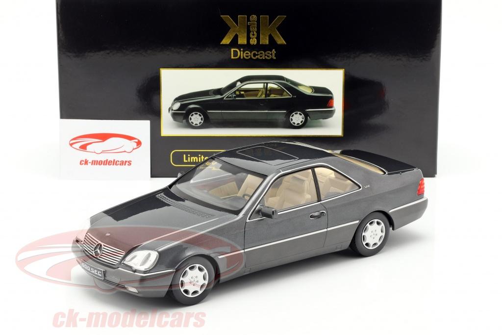 Baujahr 1992 anthrazit 1:18 KK-Scale C140 Mercedes-Benz 600 SEC
