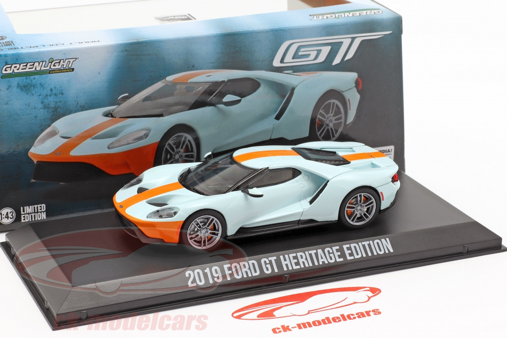 Greenlight 1//43 2019 Ford GT Ford GT Heritage Edition
