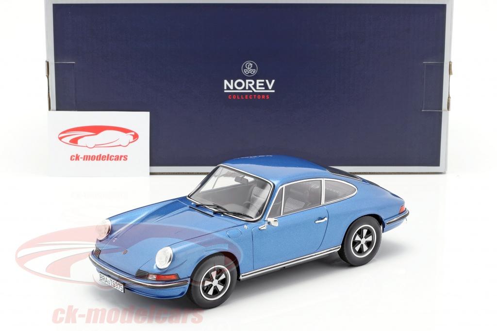 Norev  1:18  OVP  NEU Porsche 911 S  blau  Limitiert auf 1.000 St