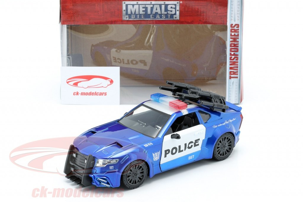 Modello DieCast 21cm BARRICADE Auto Polizia TRANSFORMERS Scala 1//24 Jada MODEL