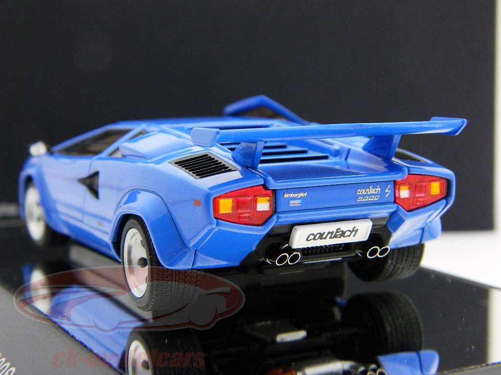ck modelcars 54534 lamborghini countach 5000s blue blue 1 43 autoart ean 674110545340. Black Bedroom Furniture Sets. Home Design Ideas