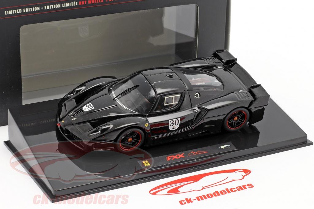 Hotwheels Elite 1 43 Schumacher Ferrari Fxx 30 Schwarz N5591 Modellauto N5591 027084680522
