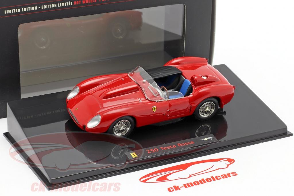 Hotwheels Elite 1 43 Ferrari 250 Testa Rossa Bj 1958 Rot Red N5593 Modellauto N5593 027084680546