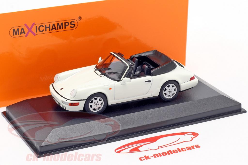 Minichamps 1 43 Porsche 911 Carrera 4 Cabriolet Year 1990 White 940067330 Model Car 940067330 4012138169074