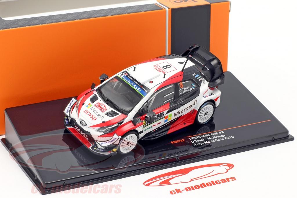 1:43 IXO TOYOTA YARIS WRC #8 Rallye Monte-Carlo 2019 RAM722 Diecast Models Car
