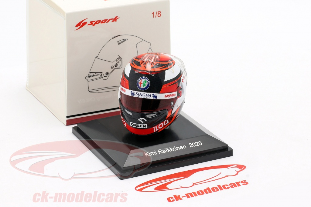 HSP054 Helm Kimi Räikkönen 2020 F1 Team Alfa Romeo Spark 1:8