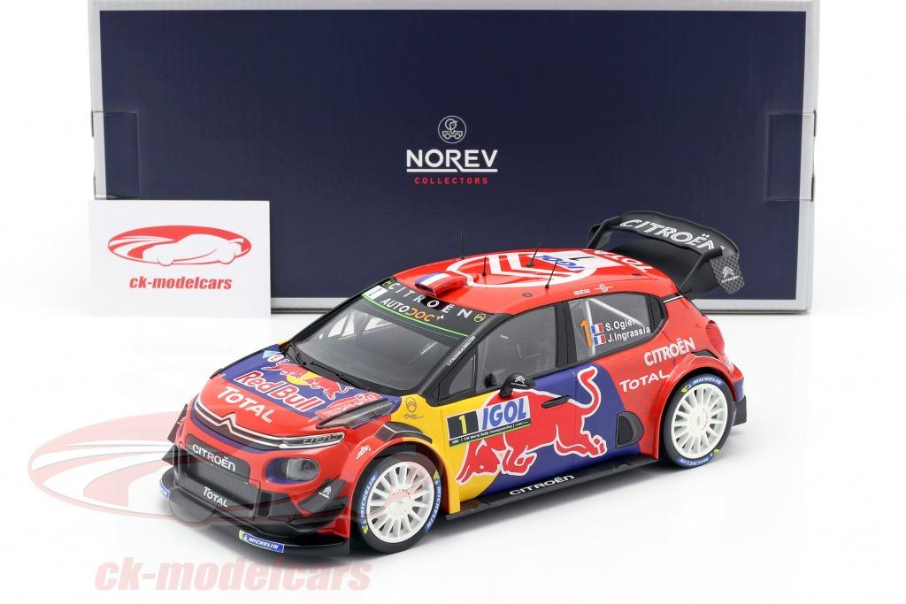 NOREV 181647 Citroen C3 WRC N°1 Ogier  1//18 Tour de Corse 2019