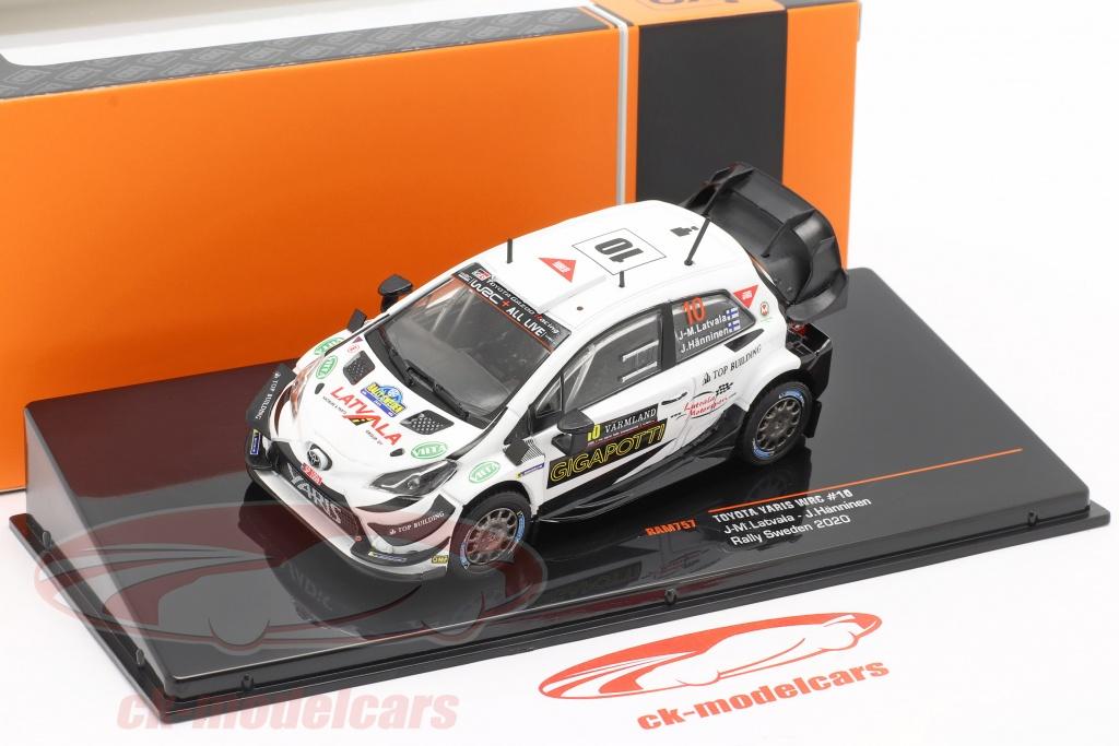 Toyota Yaris WRC 10 Rallye Aufbau Carlo 2017 Latvalla ixo 1//43