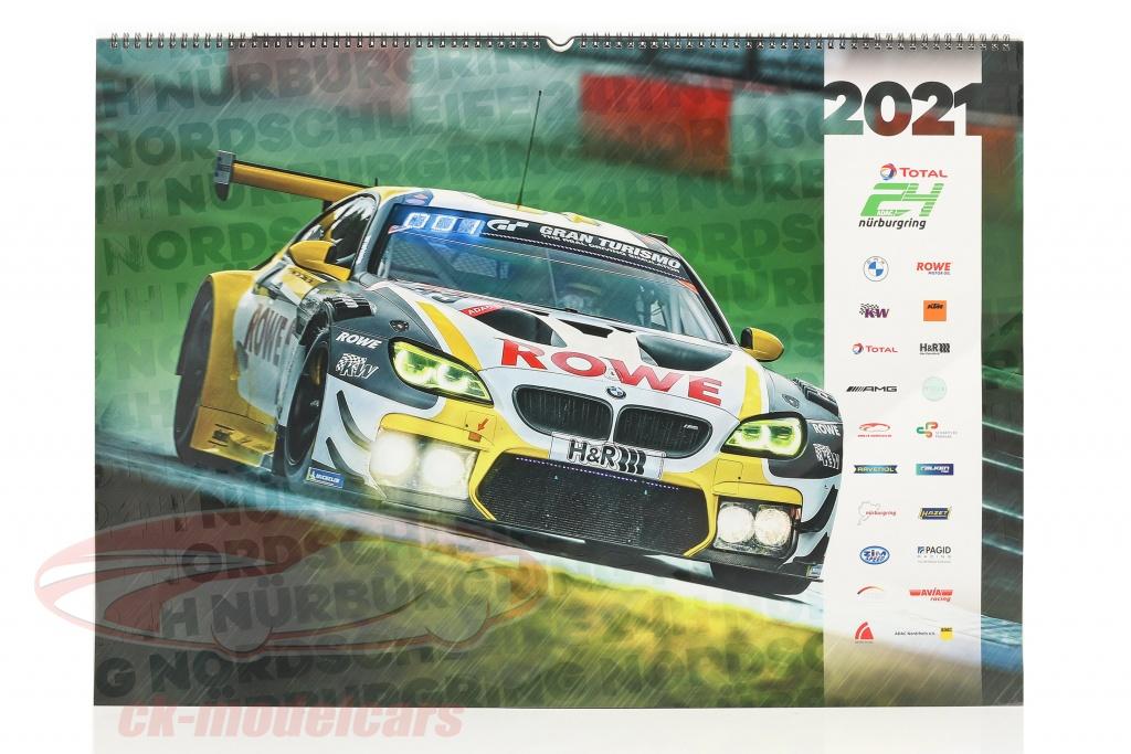 Motorsport Calendario 2021 24h Nürburgring calendario 2021 67 x 42 cm / gruppo C Motorsport