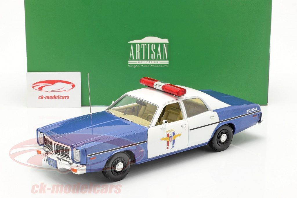 Greenlight 1 18 Dodge Monaco Crystal Lake Police 1978 Blue White 19068 Model Car 19068 819725027298