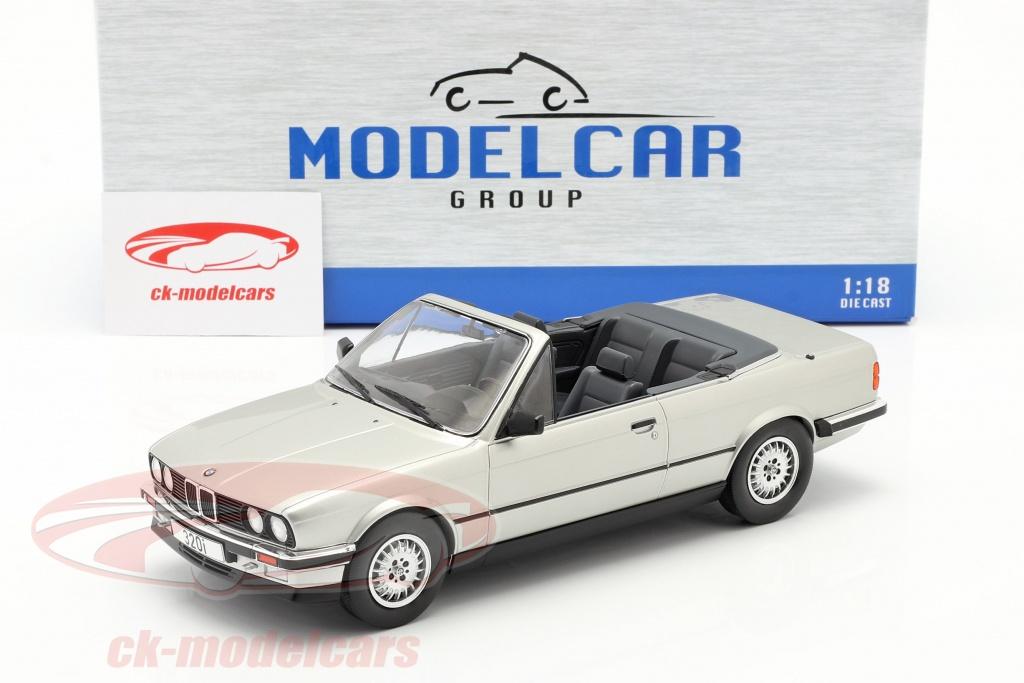 Modelcar Group 1 18 Bmw 3 Series E30 Cabriolet Year 1985 Silver Mcg18152 Model Car Mcg18152 4052176939413