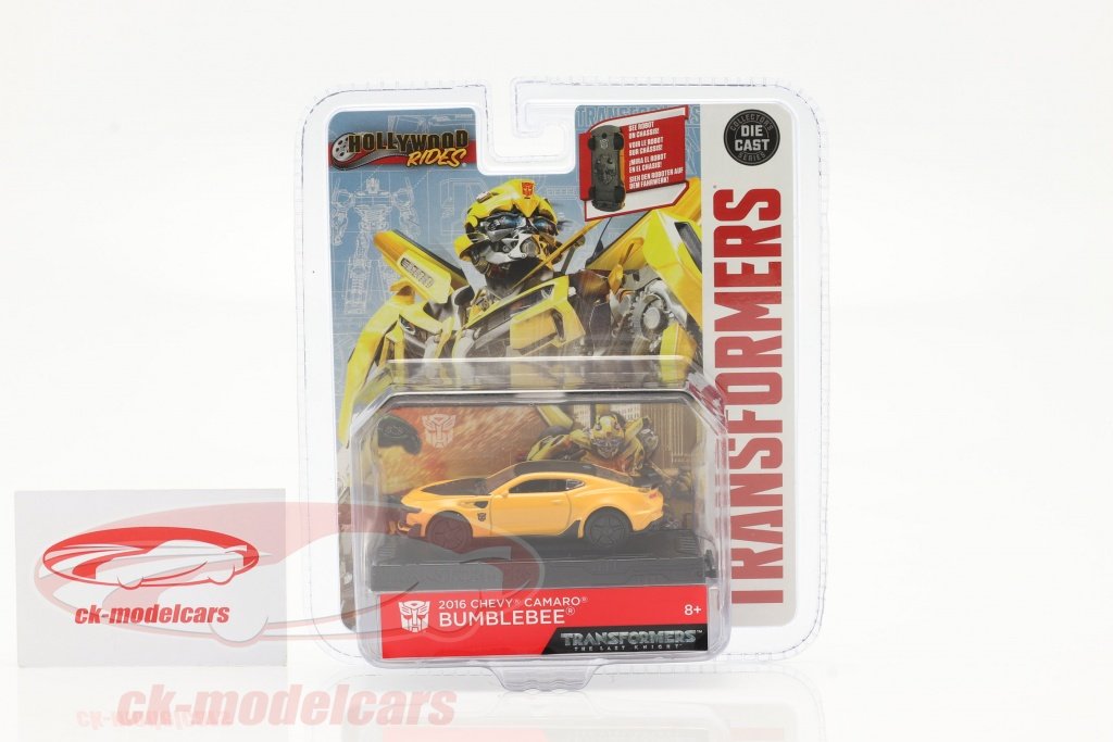 Jadatoys 1 64 Chevrolet Camaro Bumblebee 2016 Transformers 5 2017 Yellow 253112000 Model Car 253112000 4006333065385