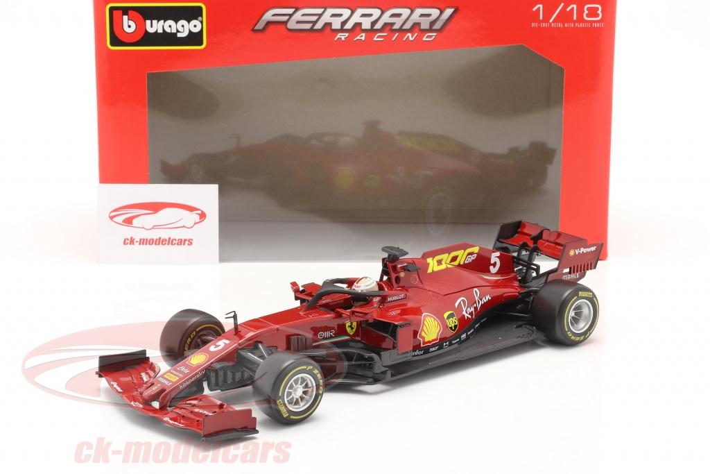 Bburago 1 18 S Vettel Ferrari Sf1000 5 1000th Gp Ferrari Tuscan Gp F1 2020 18 16808 5 Model Car 18 16808 5 4893993168088 8719247712820