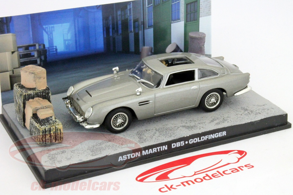 ck modelcars dy025 aston martin db5 de james bond goldfinger film voiture gris 1 43 ixo. Black Bedroom Furniture Sets. Home Design Ideas