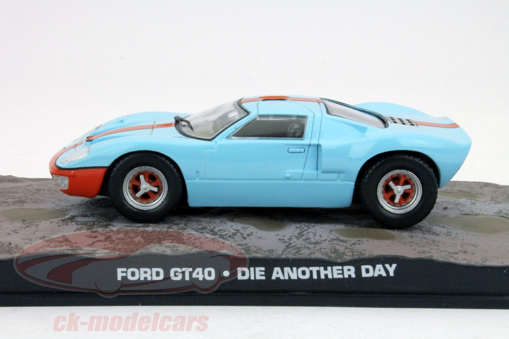 Ford Gt Car James Bond Movie Another Day Light Blue  Ixo