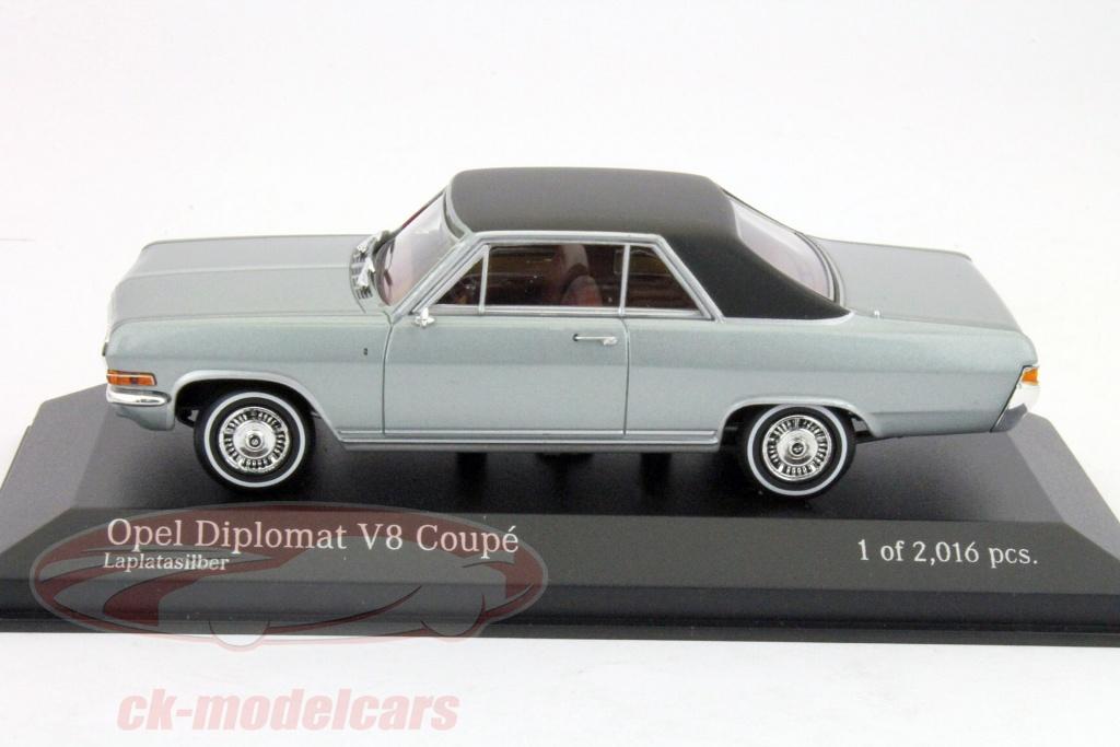 ck modelcars 400048020 opel diplomat v8 coupe 1965 silver 1 43 minichamps ean 4012138082823. Black Bedroom Furniture Sets. Home Design Ideas