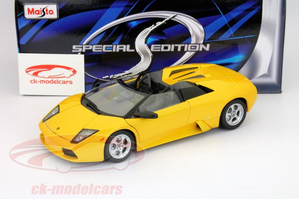 Maisto 1 18 Lamborghini Murcielago Roadster Jaune 31636 Modele