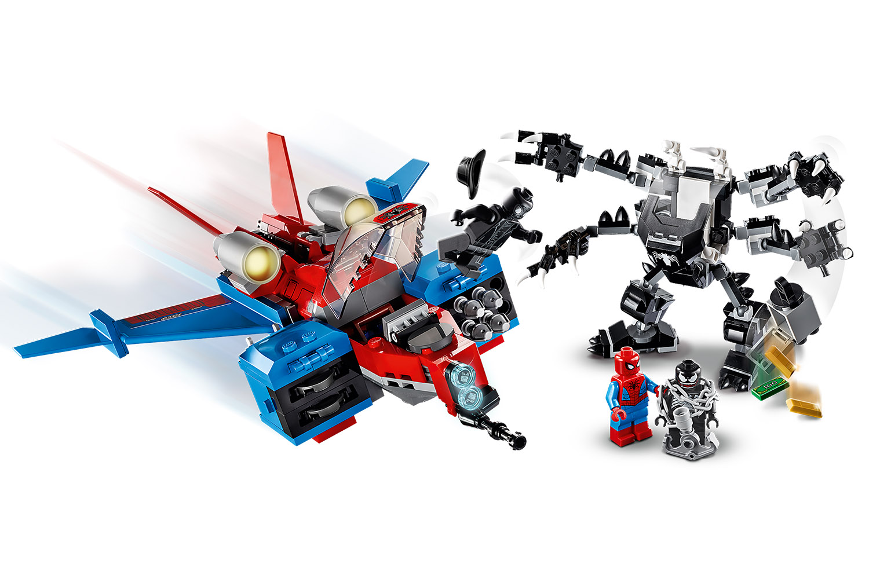 LEGO® Marvel Spiderman Spiderjet vs. Venom Mech