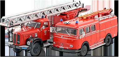 Mercedes-Benz Lf 16 Lpf 311 Bomberos Rojo 1:72 altaya