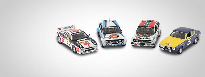 rally Legend Limited rally auto's in 1:18 en 1:43