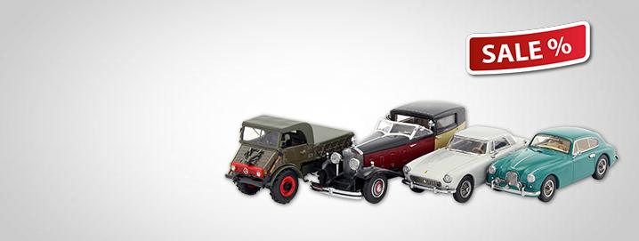 SALE %% Various road vehicles in 1:43 special Philatelie Liechtenstein